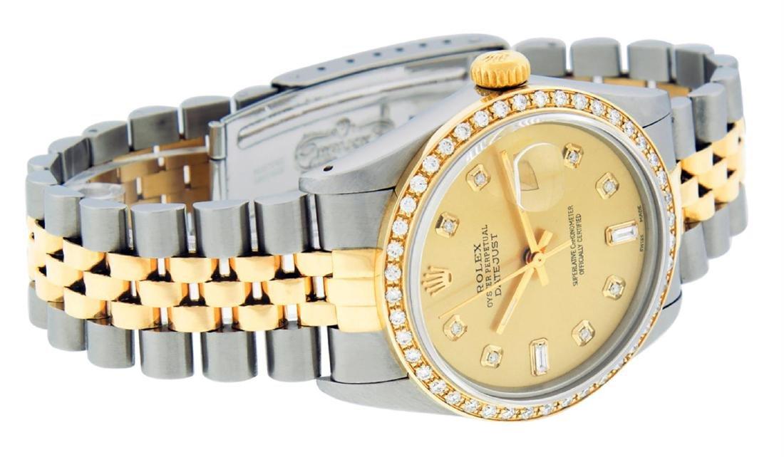 Rolex Men's Two Tone 14K Champagne Diamond 36MM - 3