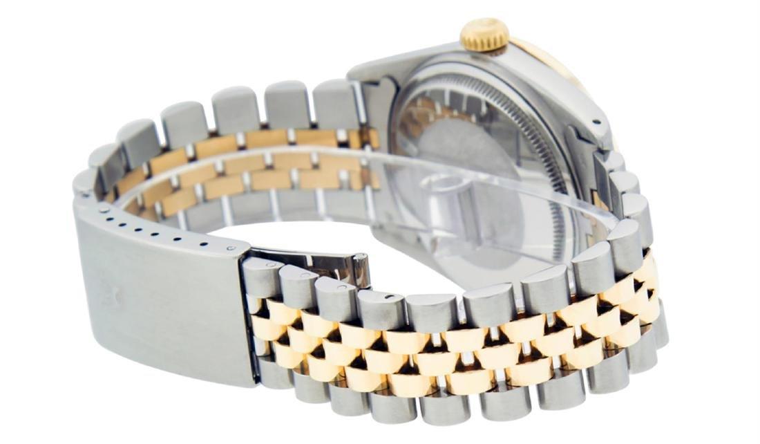 Rolex Men's Two Tone 14K Champagne Diamond 36MM - 4
