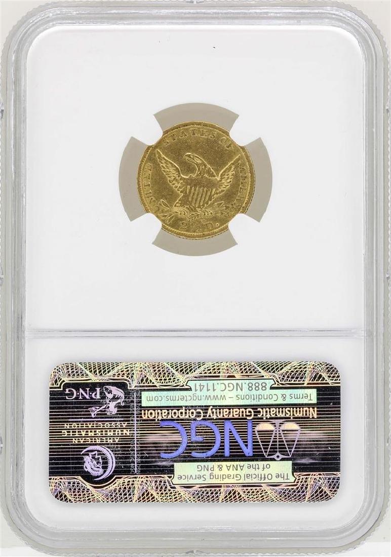 1836 Block 8 $2 1/2 Classic Head Quarter Eagle Gold - 2