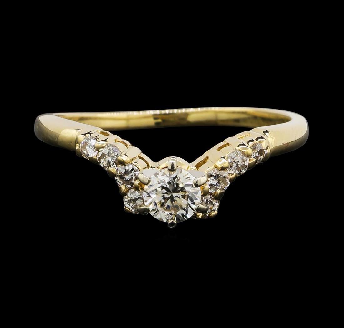 14KT Yellow Gold 0.55 ctw Diamond Ring