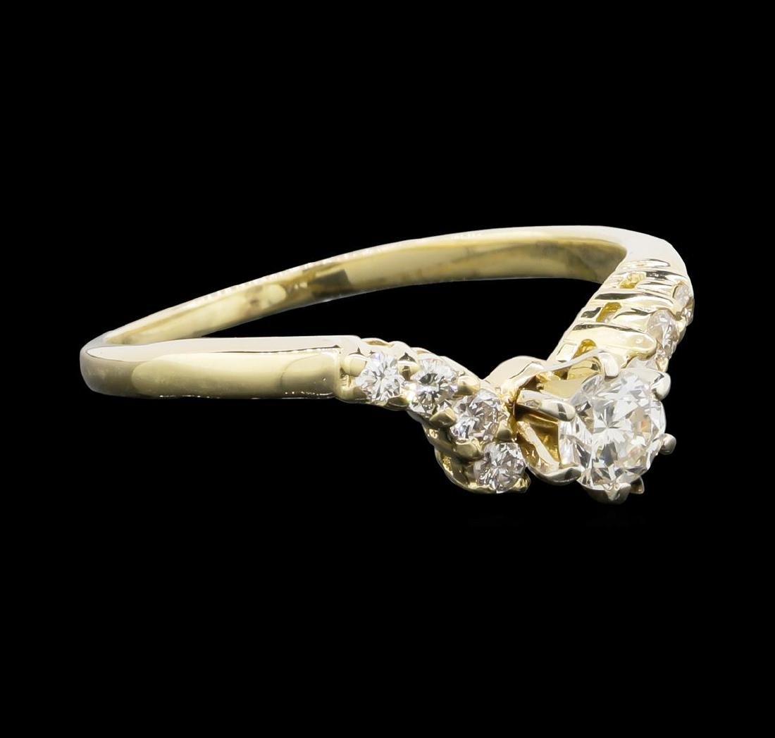 14KT Yellow Gold 0.55 ctw Diamond Ring - 2