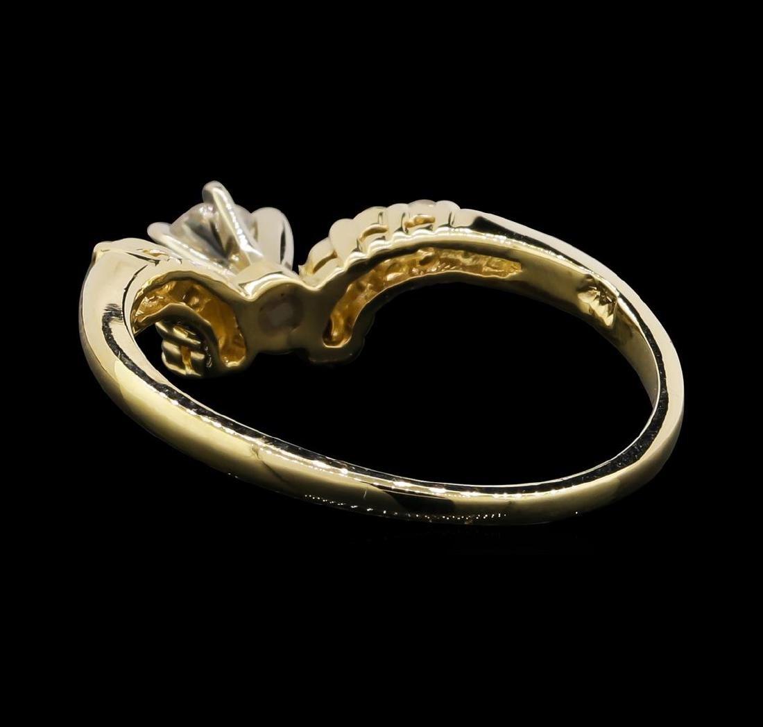 14KT Yellow Gold 0.55 ctw Diamond Ring - 3