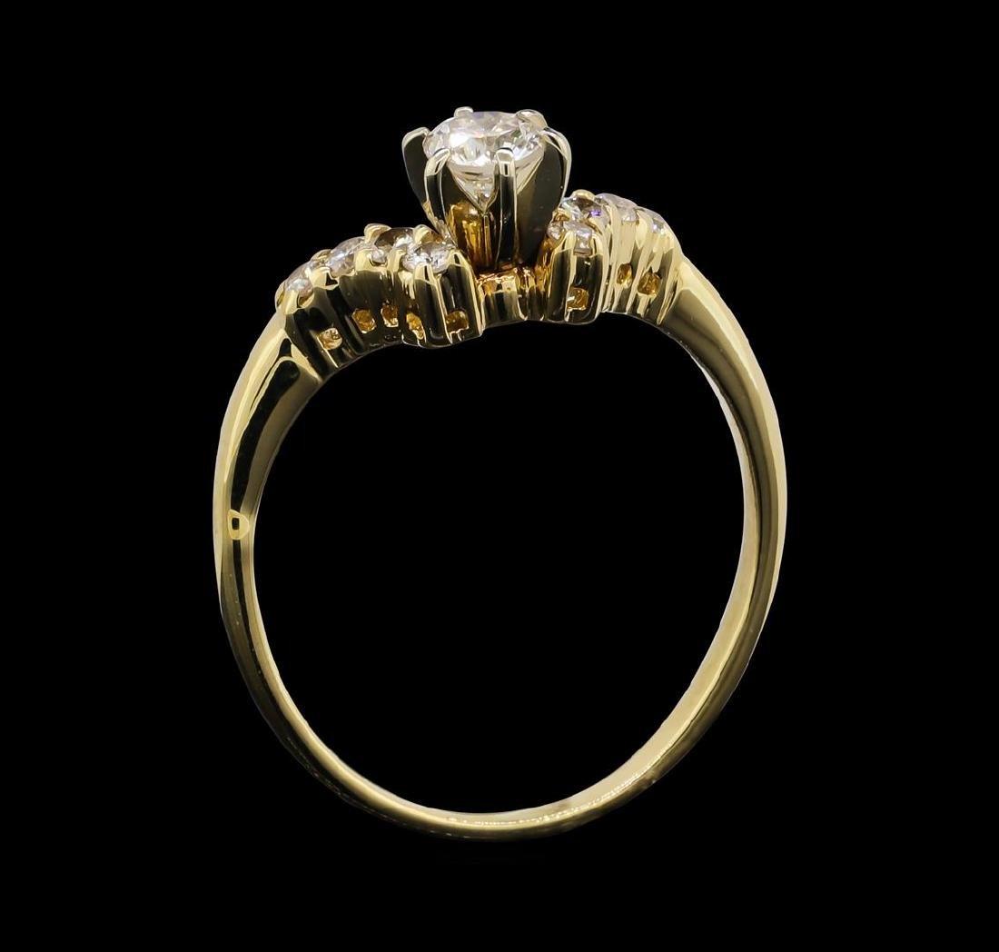 14KT Yellow Gold 0.55 ctw Diamond Ring - 4