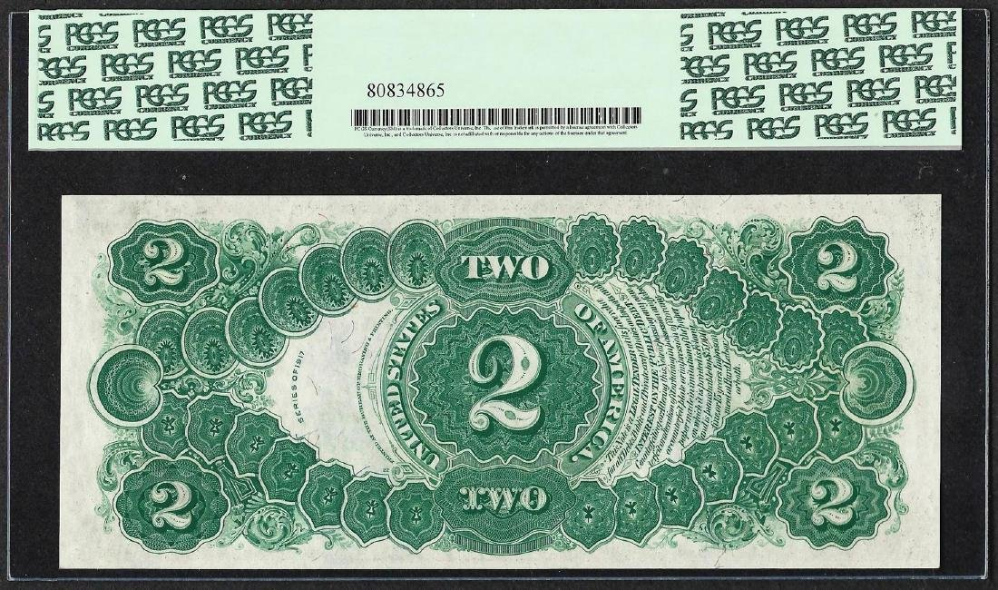 1917 $2 Legal Tender Note Fr.60 PCGS Gem New 66PPQ - 2