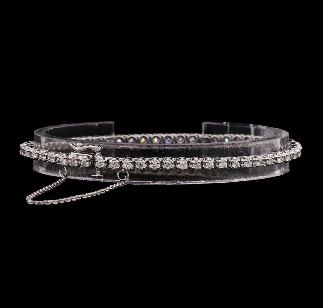 14KT White Gold Ladies 2.10 ctw Diamond Bracelet