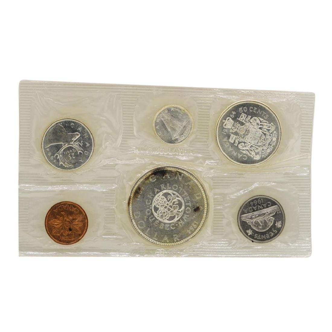 Lot of 1963-1965 Canada (6) Coin Proof Sets w/ Envelope - 5