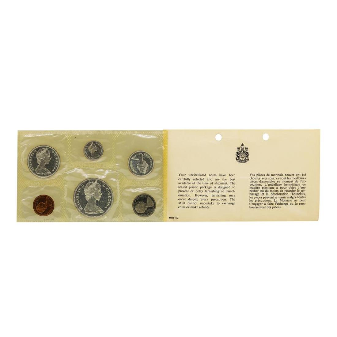 Lot of 1963-1965 Canada (6) Coin Proof Sets w/ Envelope - 6