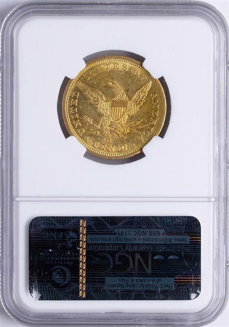 1843-O $10 Liberty Head Eagle Gold Coin NGC AU55 - 2