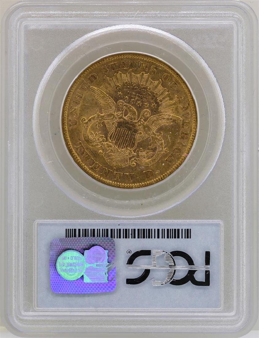 1876-S $20 Liberty Head Double Eagle Gold Coin PCGS - 2