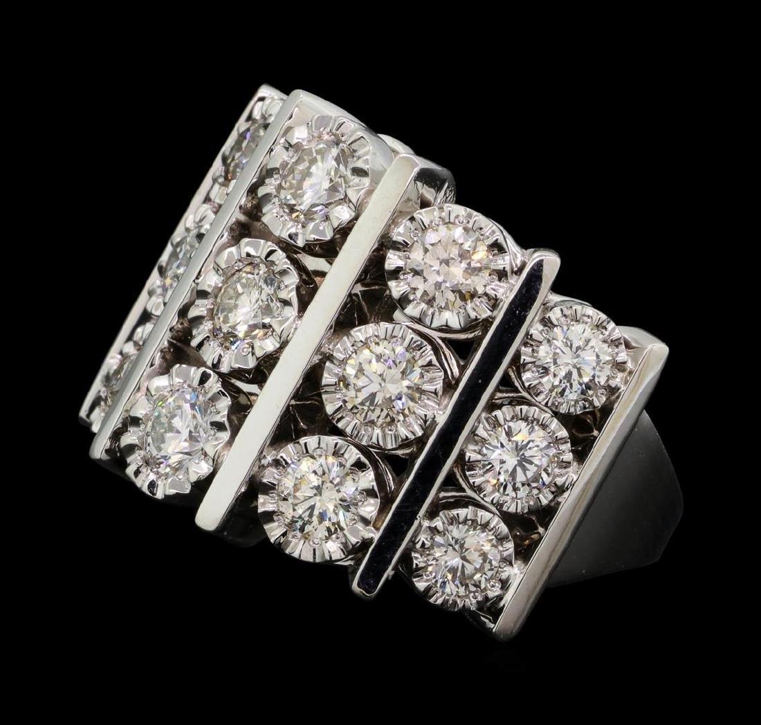 14KT White Gold 1.50 ctw Diamond Ring - 2