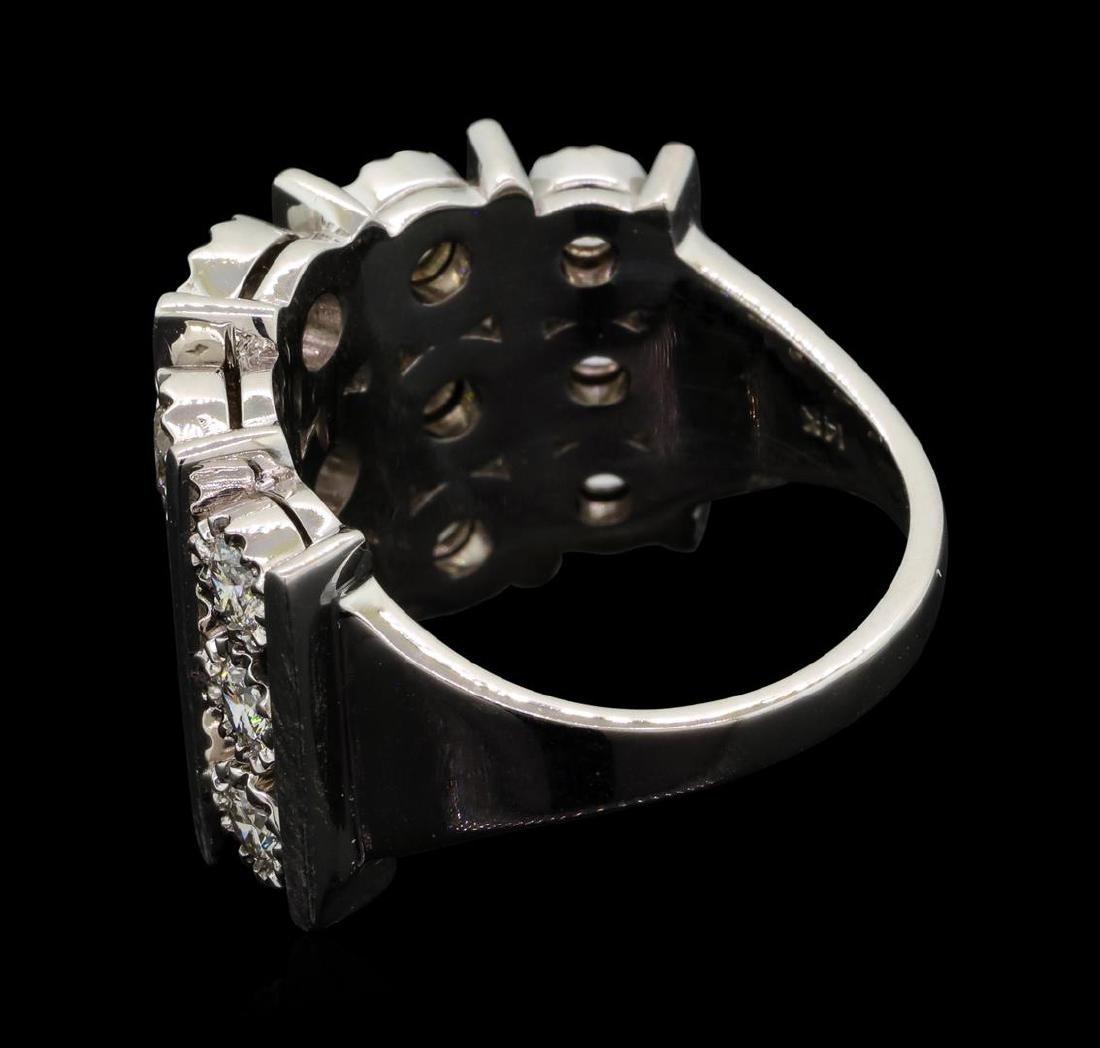 14KT White Gold 1.50 ctw Diamond Ring - 3