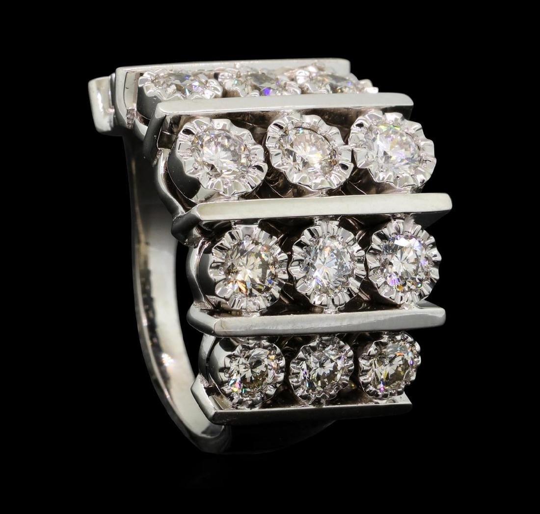 14KT White Gold 1.50 ctw Diamond Ring - 4
