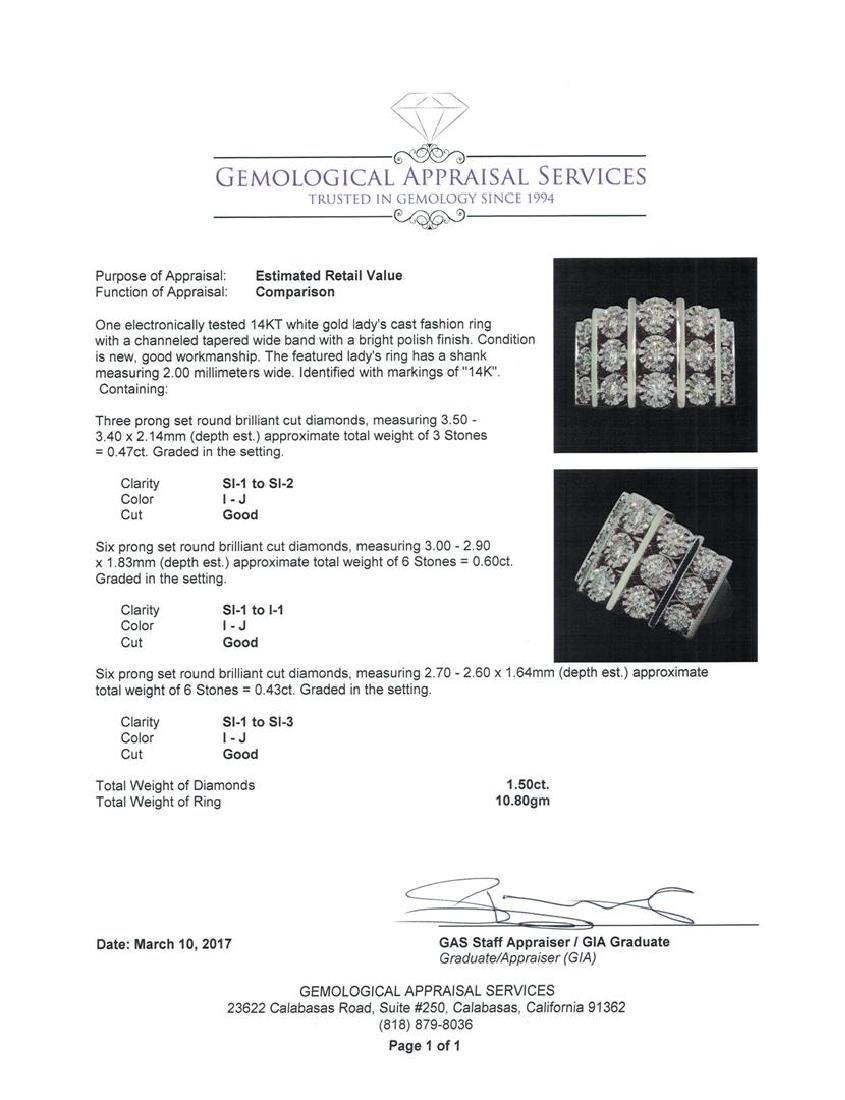 14KT White Gold 1.50 ctw Diamond Ring - 5