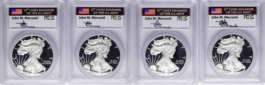 2015-W $1 American Silver Eagle Mercanti First Day of