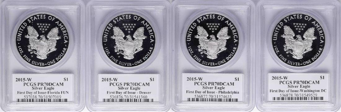 2015-W $1 American Silver Eagle Mercanti First Day of - 2