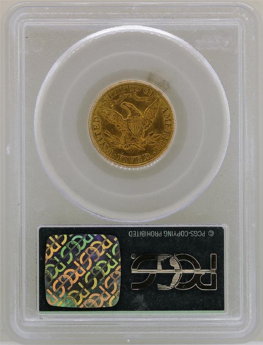 1906-D $5 Liberty Head Half Eagle Gold Coin PCGS MS62 - 2
