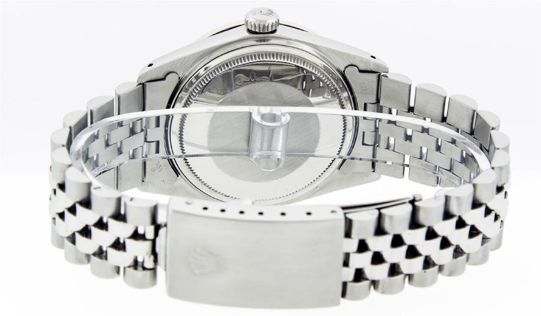 Rolex Men's Stainless Steel Blue Roman Diamond & - 7
