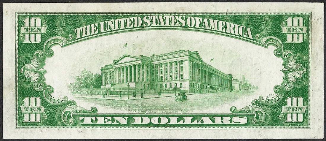 1934 $10 Silver Certificate Note - 2