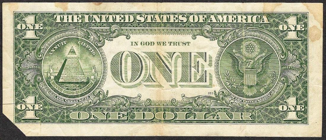 1985 $1 Federal Reserve Note Fold Over ERROR - 4