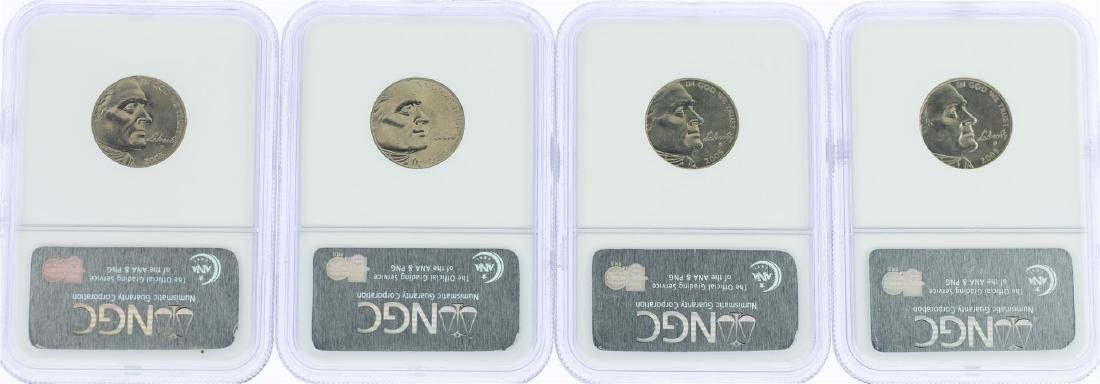 Lot of (4) 2005 Bison Nickel Coins NGC MS65 - 2