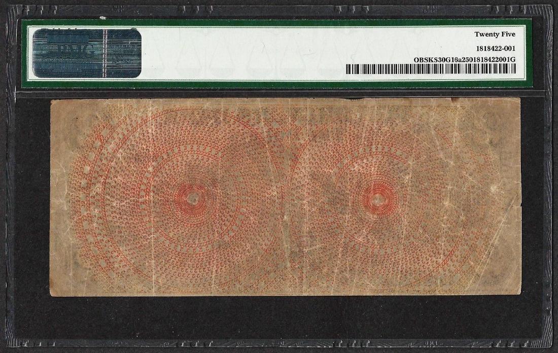 1856 $2 Drovers Bank Leavenworth City, KS Obsolete Note - 2