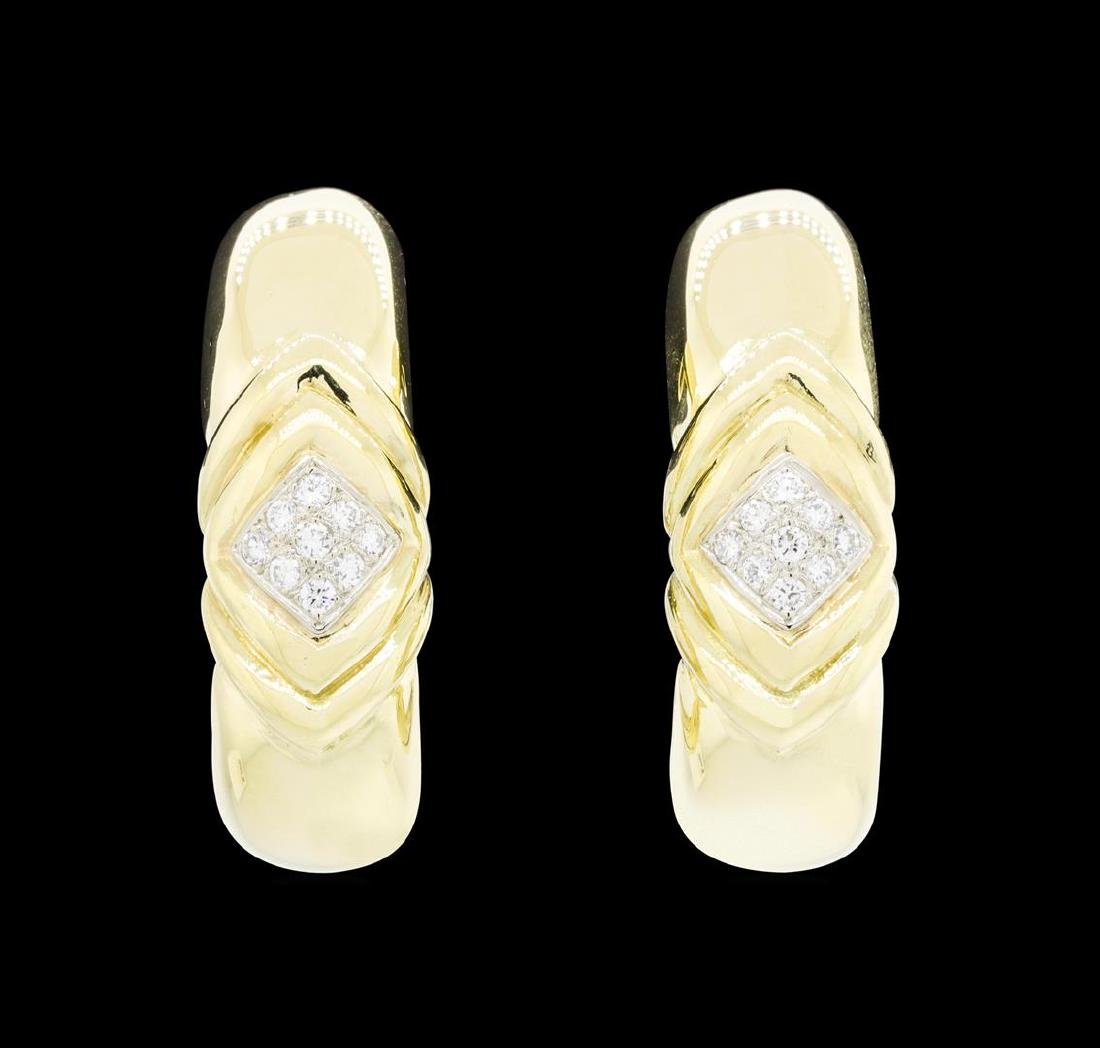 14-18KT Yellow and White Gold 0.50 ctw Diamond Clip