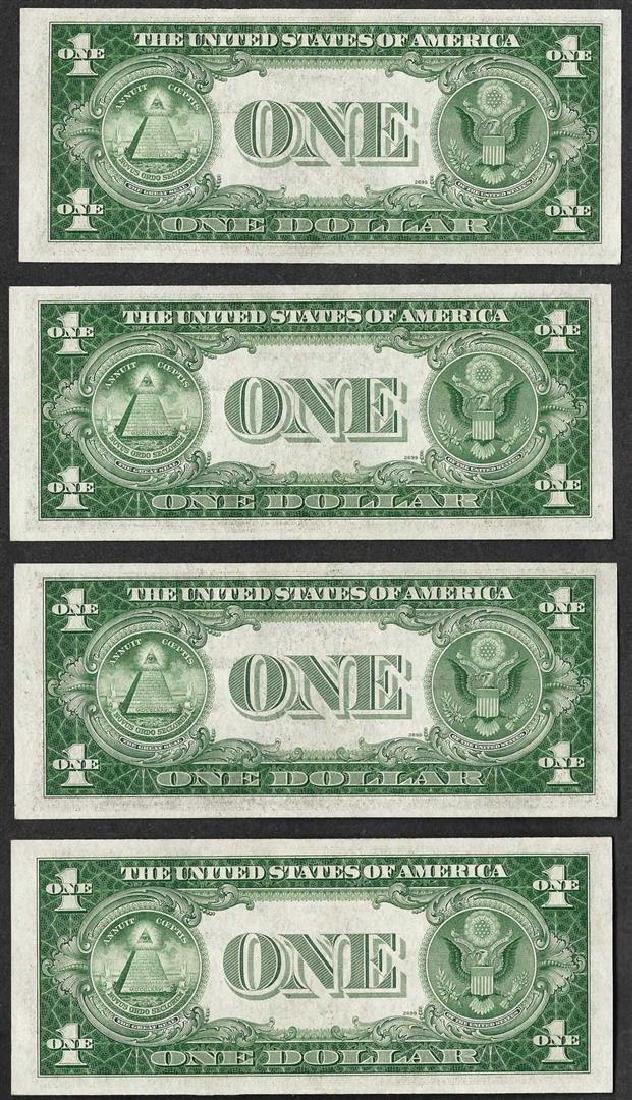Lot of (4) 1935A $1 North Africa Emergency WWII Silver - 2