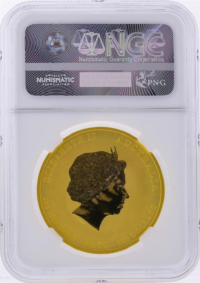 2008P $100 Australia Year of the Mouse Gold Coin NGC - 2