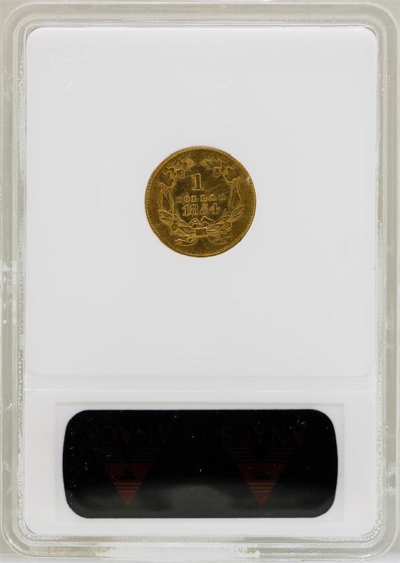 1854 $1 Indian Princess Head Type 2 Gold Dollar Coin - 2