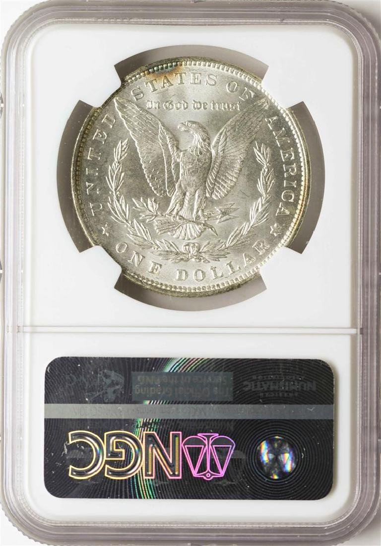 1887 $1 Morgan Silver Dollar Coin NGC MS63 - 2