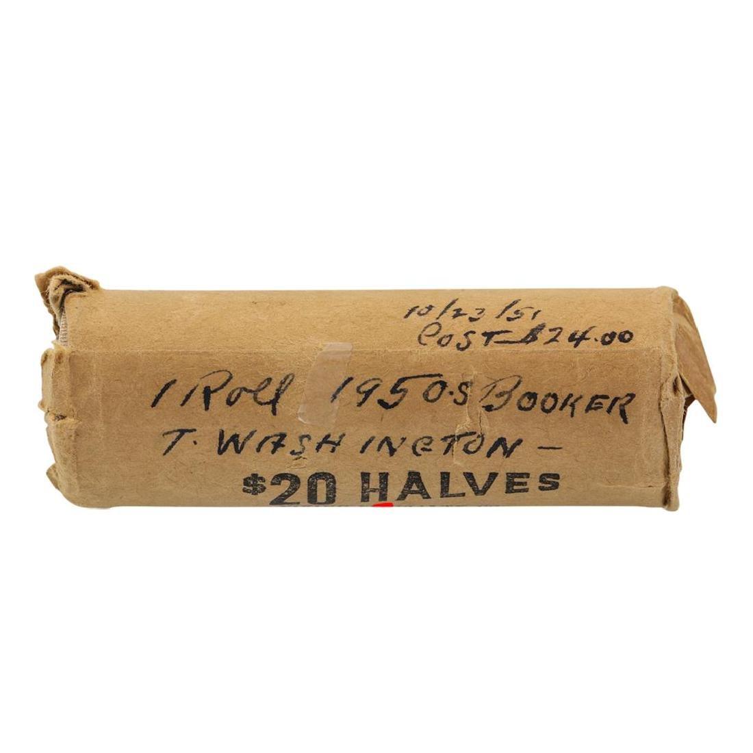 Original Roll of (40) 1950-S Booker T Washington Half