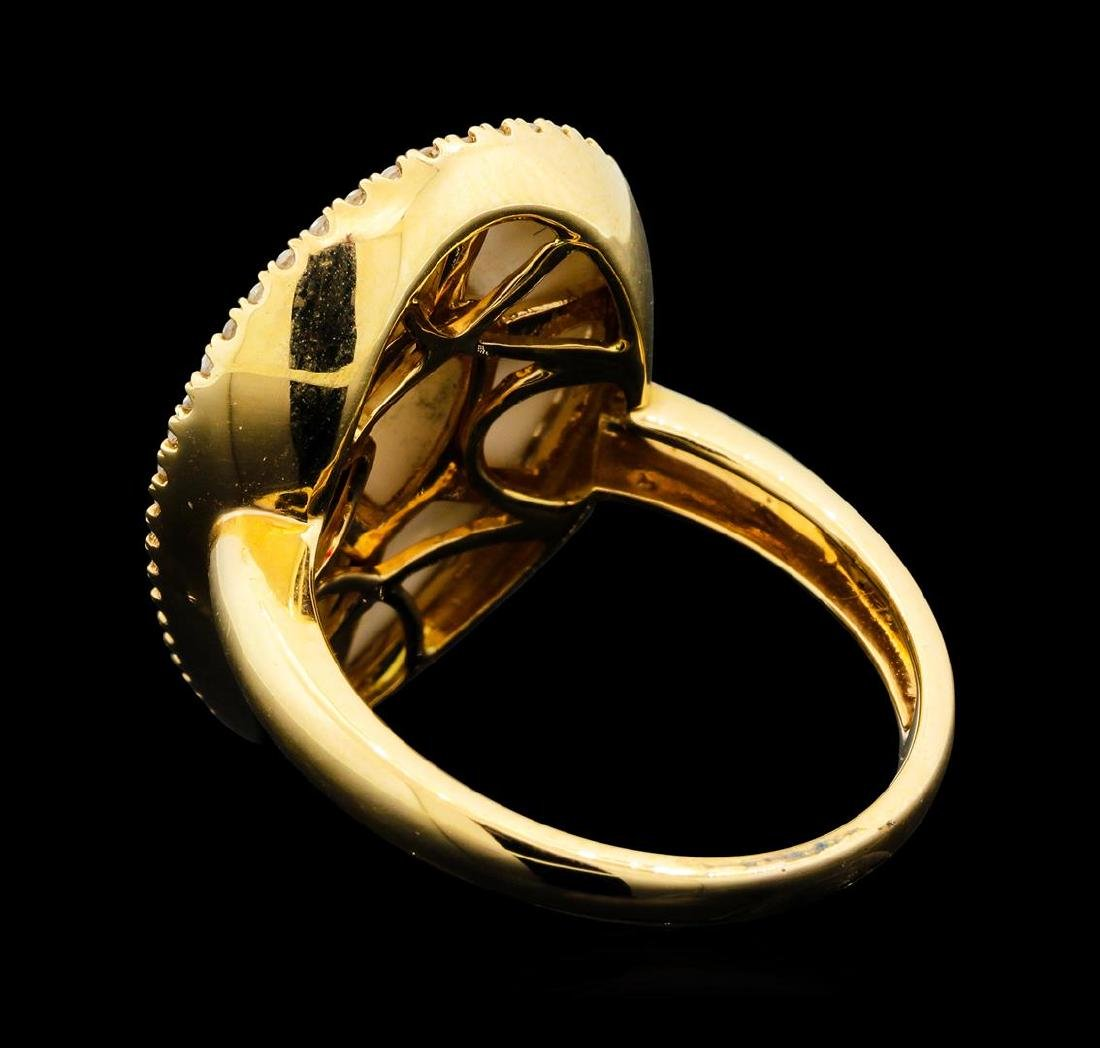 14KT Rose Gold 4.56 ctw White Onyx and Diamond Ring - 3