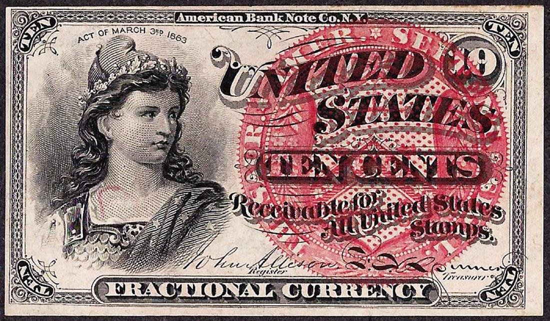 March 3, 1863 Fourth Issue Ten Five Cent Fractional