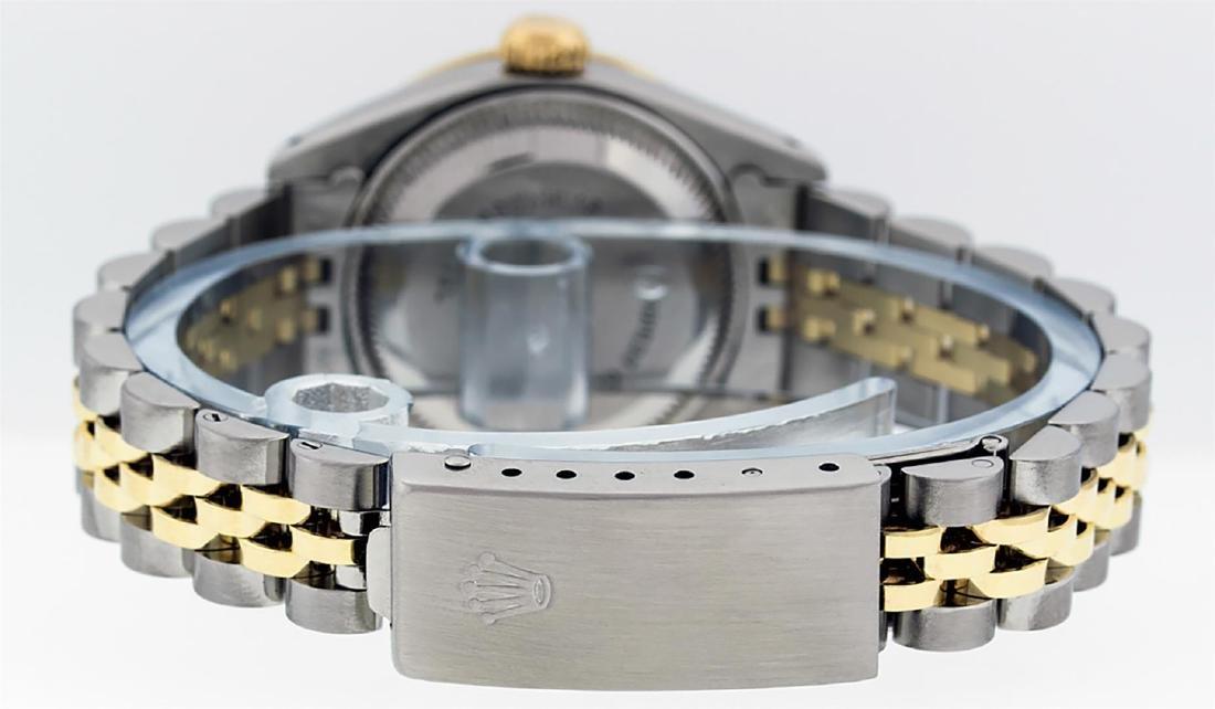 Rolex Ladies Two Tone 14K MOP Diamond & Emerald - 7