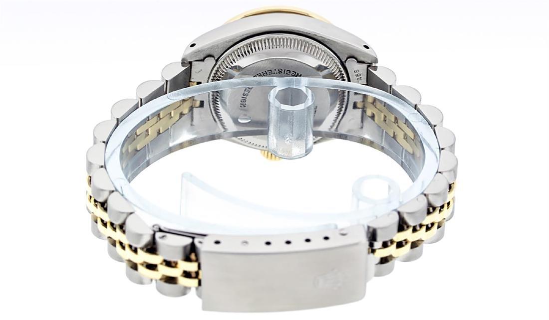Rolex Ladies Two Tone 14K MOP Diamond & Emerald - 8