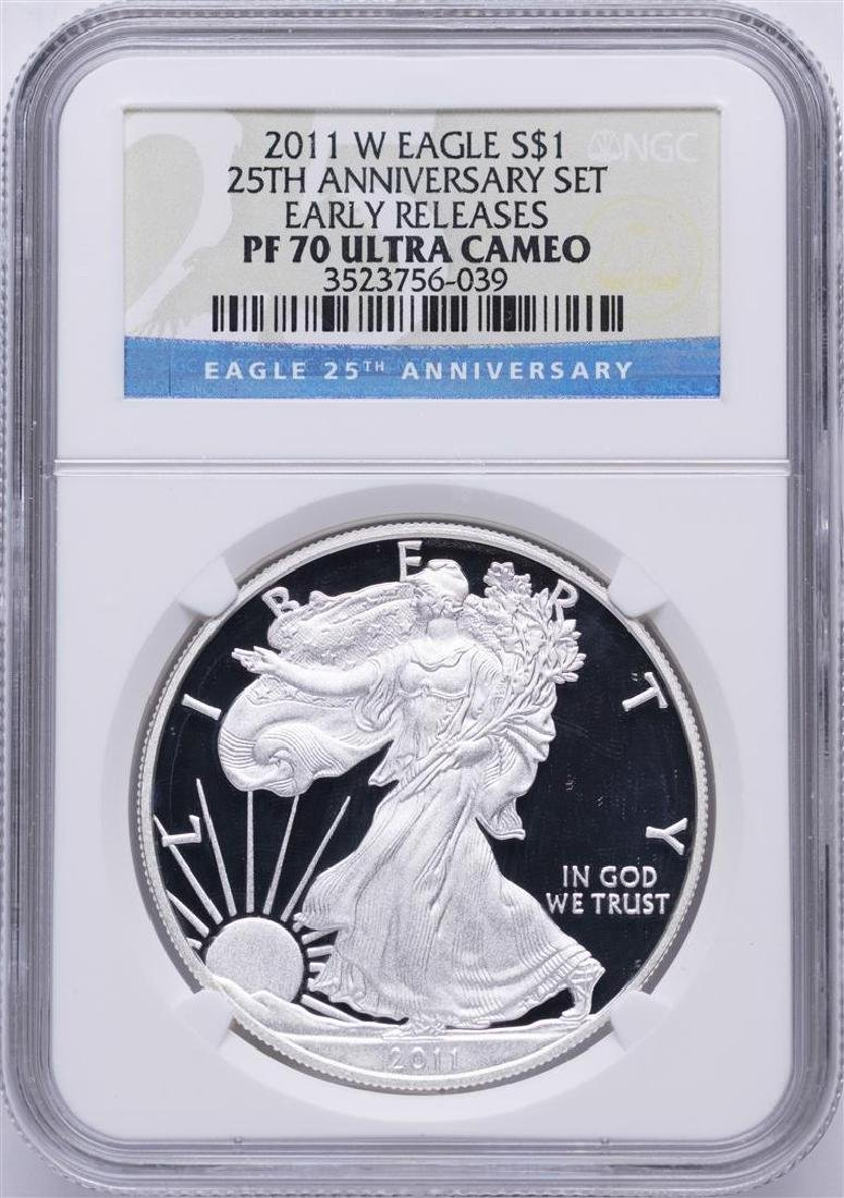 2011-W $1 American Silver Eagle Coin NGC PF70 Ultra