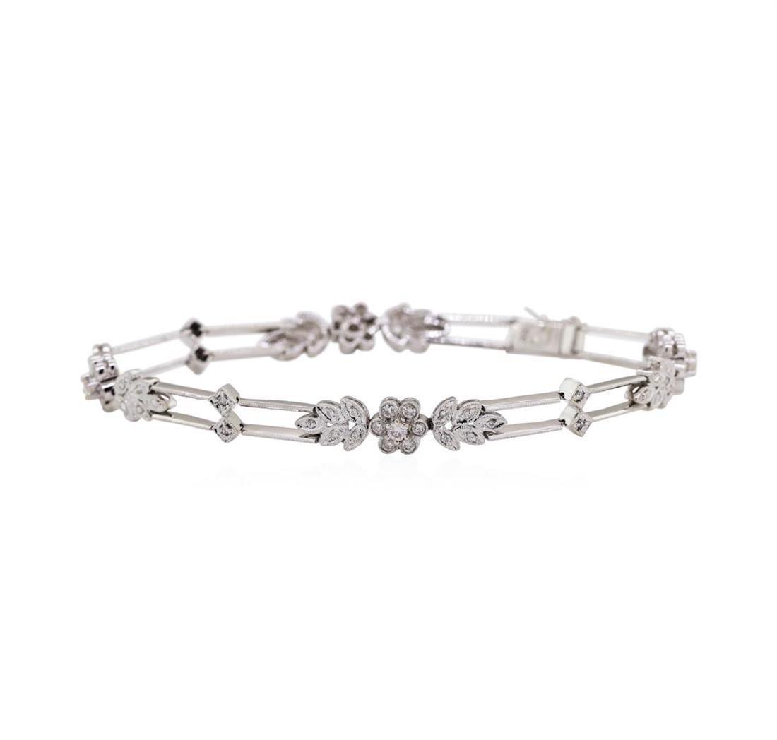 18KT White Gold 1.00 ctw Diamond Bracelet