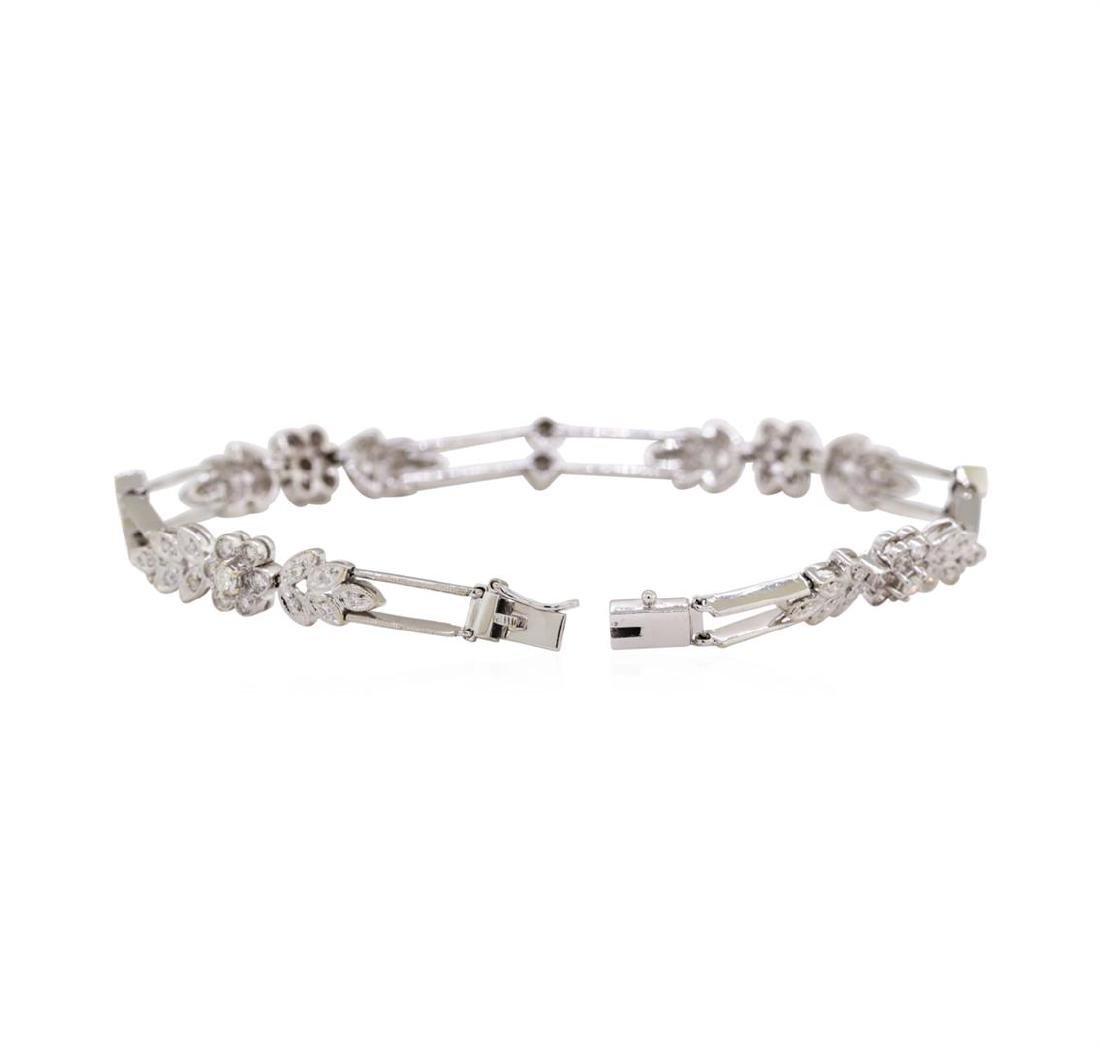 18KT White Gold 1.00 ctw Diamond Bracelet - 3