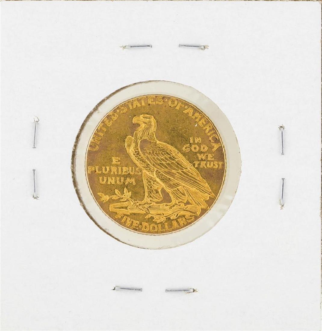 1909 $5 Indian Head Half Eagle Gold Coin - 2