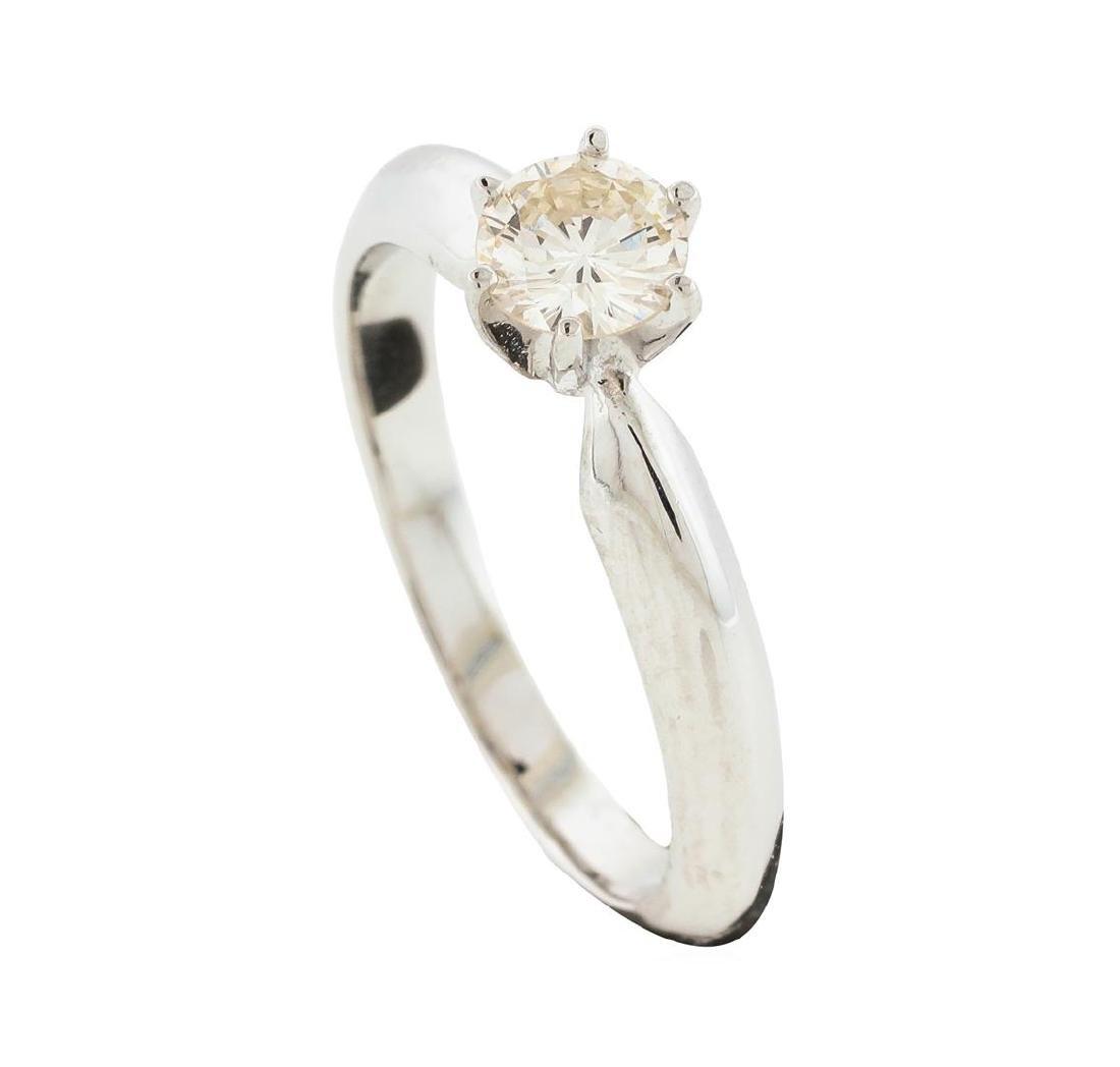 14KT White Gold 0.42 ctw Diamond Ring - 4