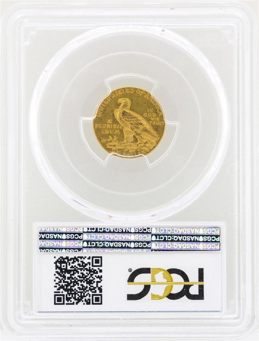 1913 $2 1/2 Indian Head Quarter Eagle Gold Coin NGC - 2