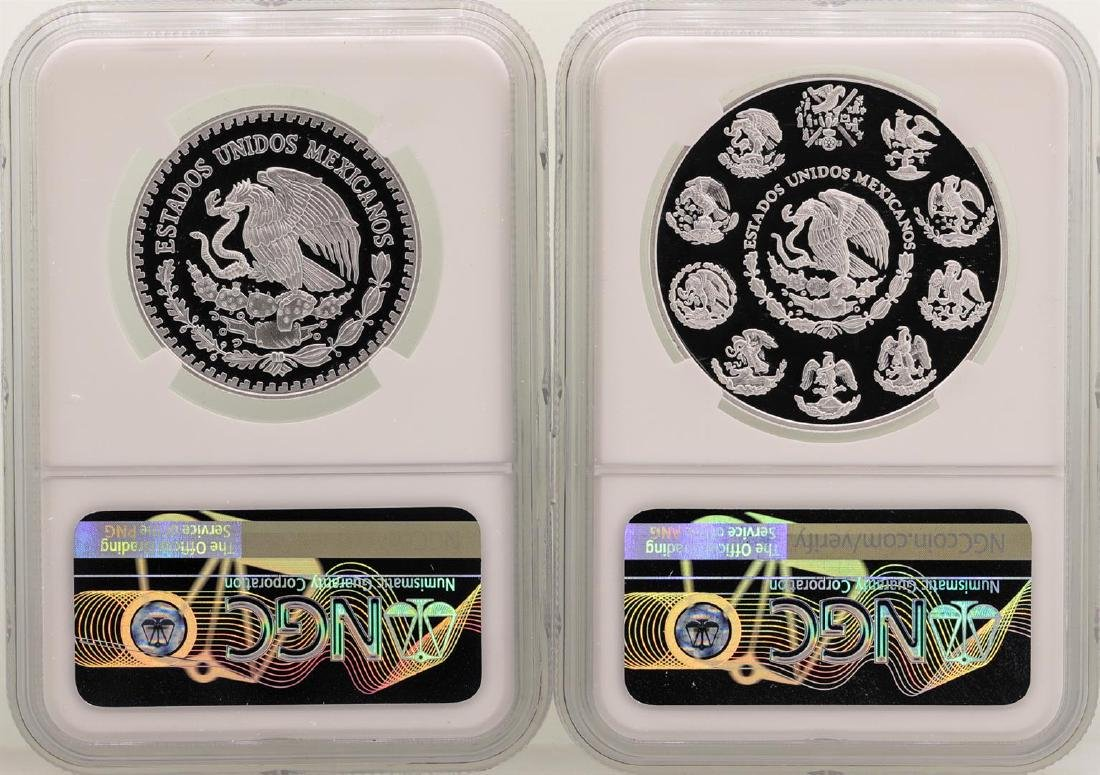 Lot of 2018 Mexico 1 Onza & 1/2 Onza Libertad Proof - 2