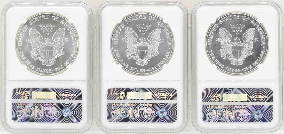 Lot of (3) $1 American Silver Eagle Coins NGC MS69 - 2
