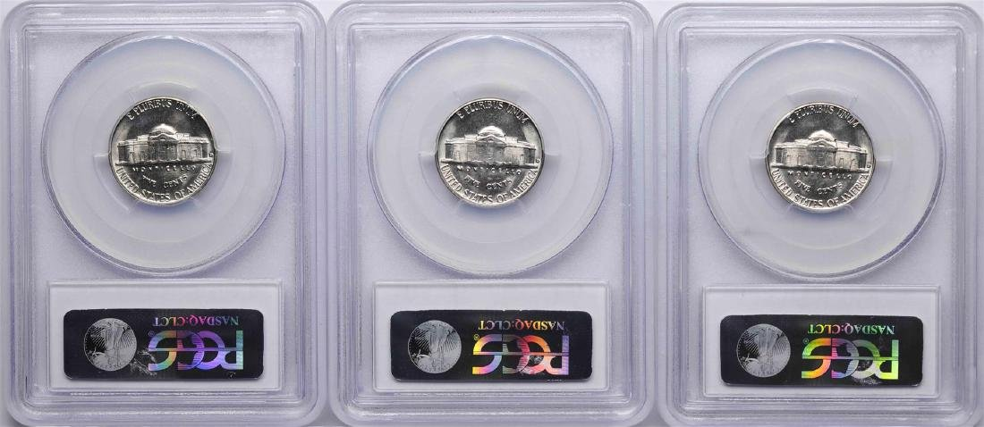 Lot of (3) 1961-D Jefferson Nickel Coins PCGS MS65 - 2
