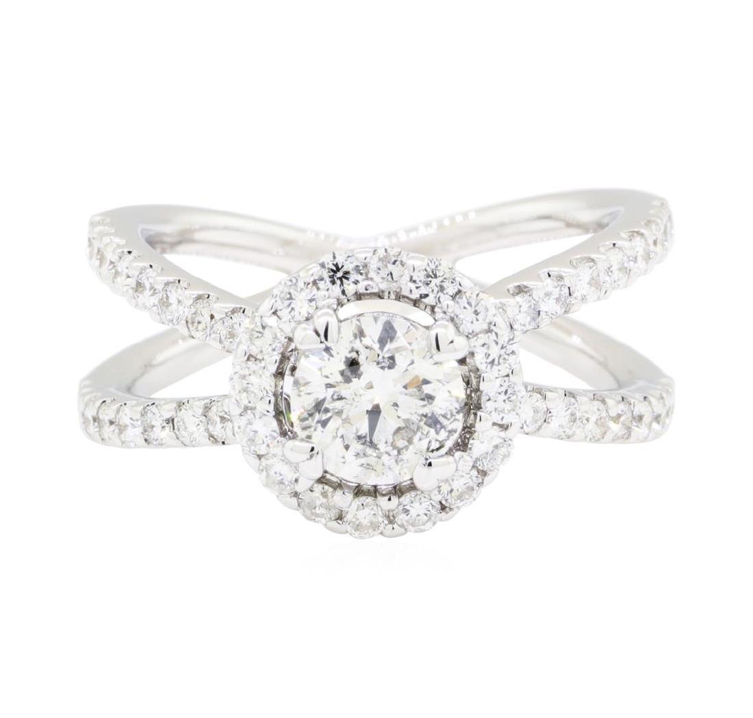 18KT White Gold 1.60 ctw Diamond Ring - 2