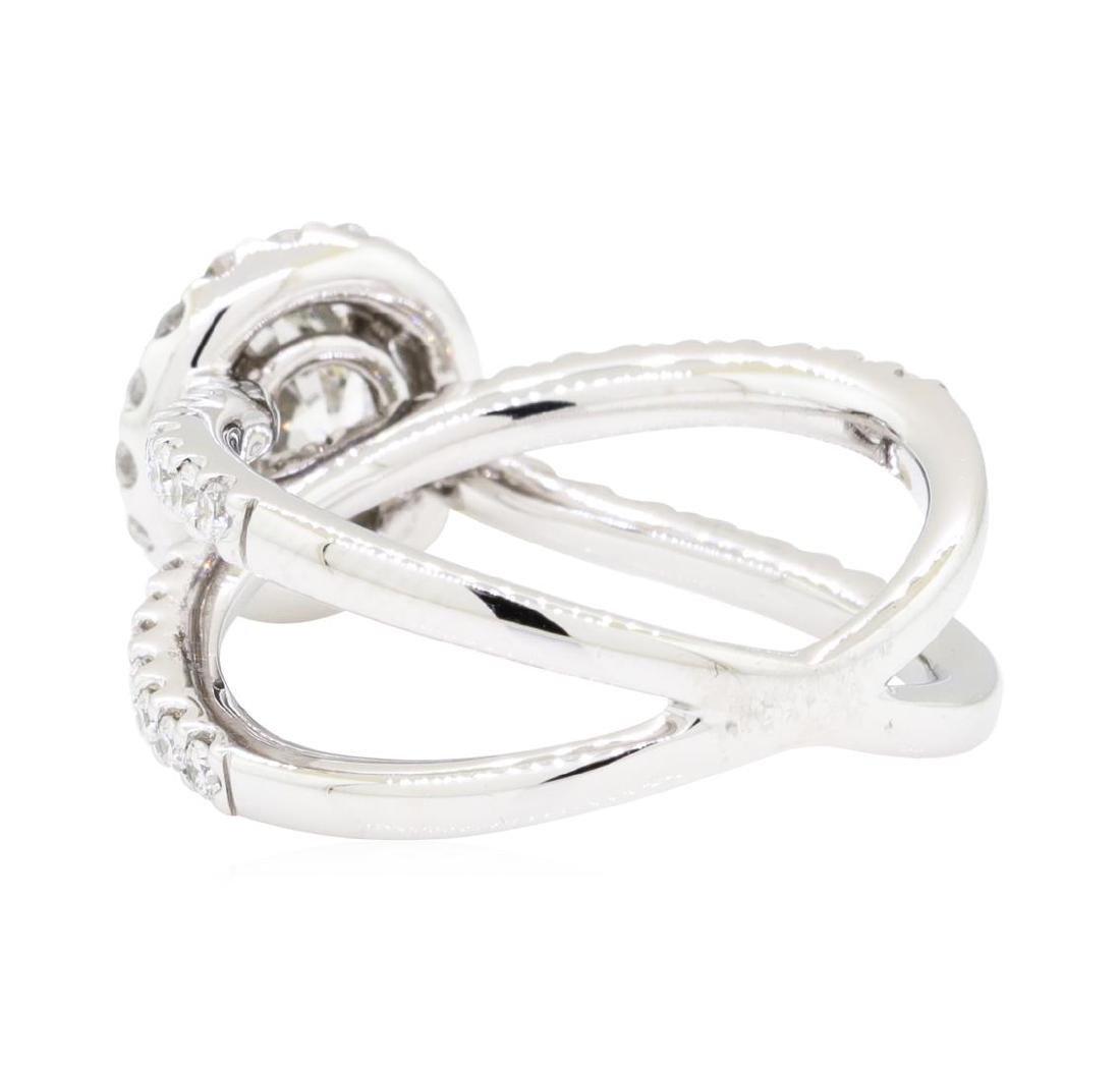 18KT White Gold 1.60 ctw Diamond Ring - 3