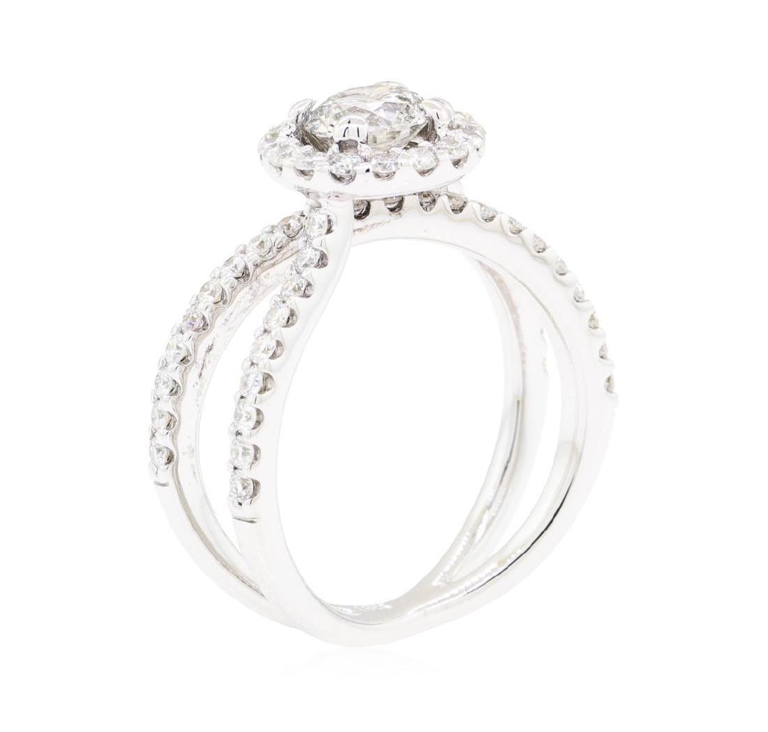 18KT White Gold 1.60 ctw Diamond Ring - 4