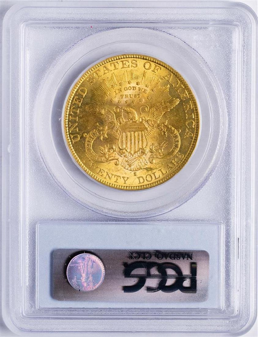 1892-S $20 Liberty Head Double Eagle Gold Coin PCGS - 2