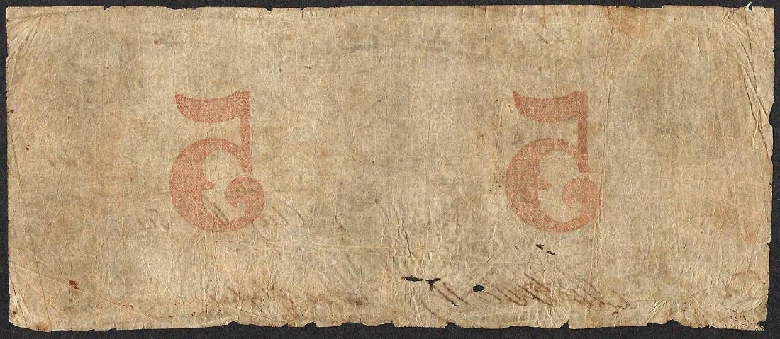 1854 $5 Exchange Bank of Columbia, SC Obsolete Note - 2