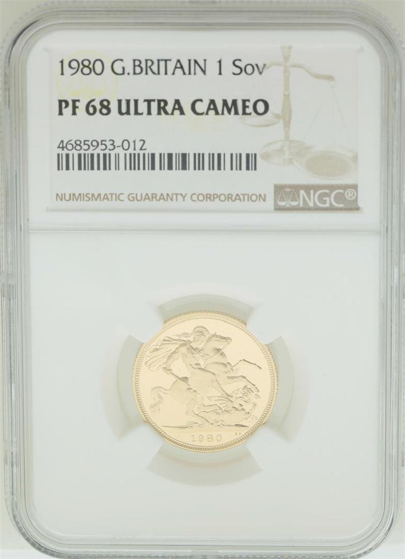 1980 Great Britain Sovereign Gold Coin NGC PF68 Ultra